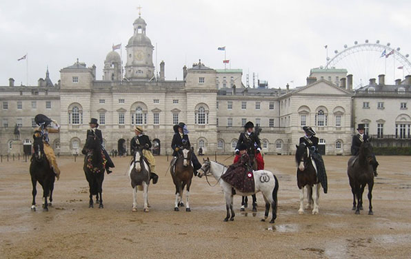 Rosie-and-Megan-in-front-of-Horse-Guards-Parade