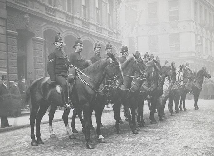 The City of London Police Mounted Unit in 1910