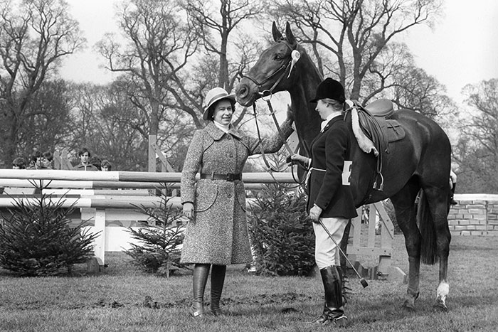 A 'well done' pat for Doublet as the Queen congratulates Princess Anne and her mount after they had taken fifth place in the Badminton Horse Trials.