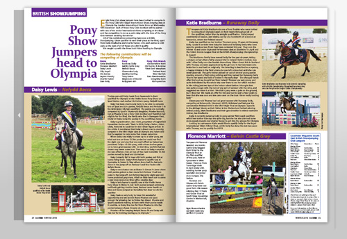 Pony Showjumpers head for Olympia