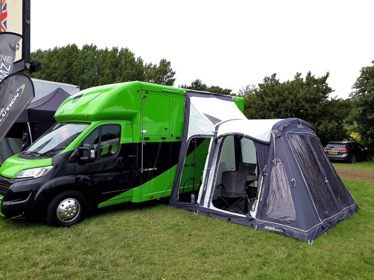 Outdoor revolutions range of awnings for horseboxes and ...