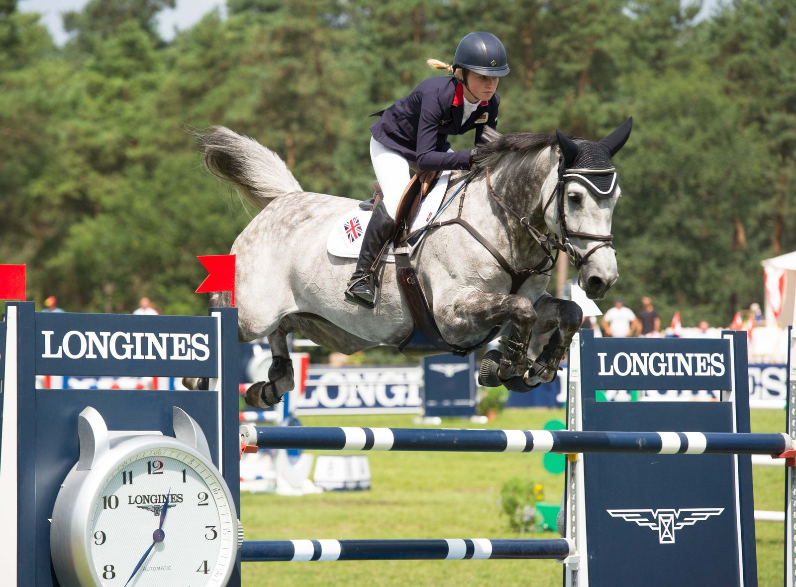 Sienna Charles, British showjumpers win Silver