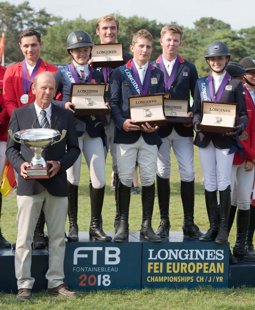 Gold medal winning Young Rider Showjumping team