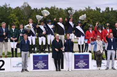 Winning British Showjumping Junior Nations Cup Team