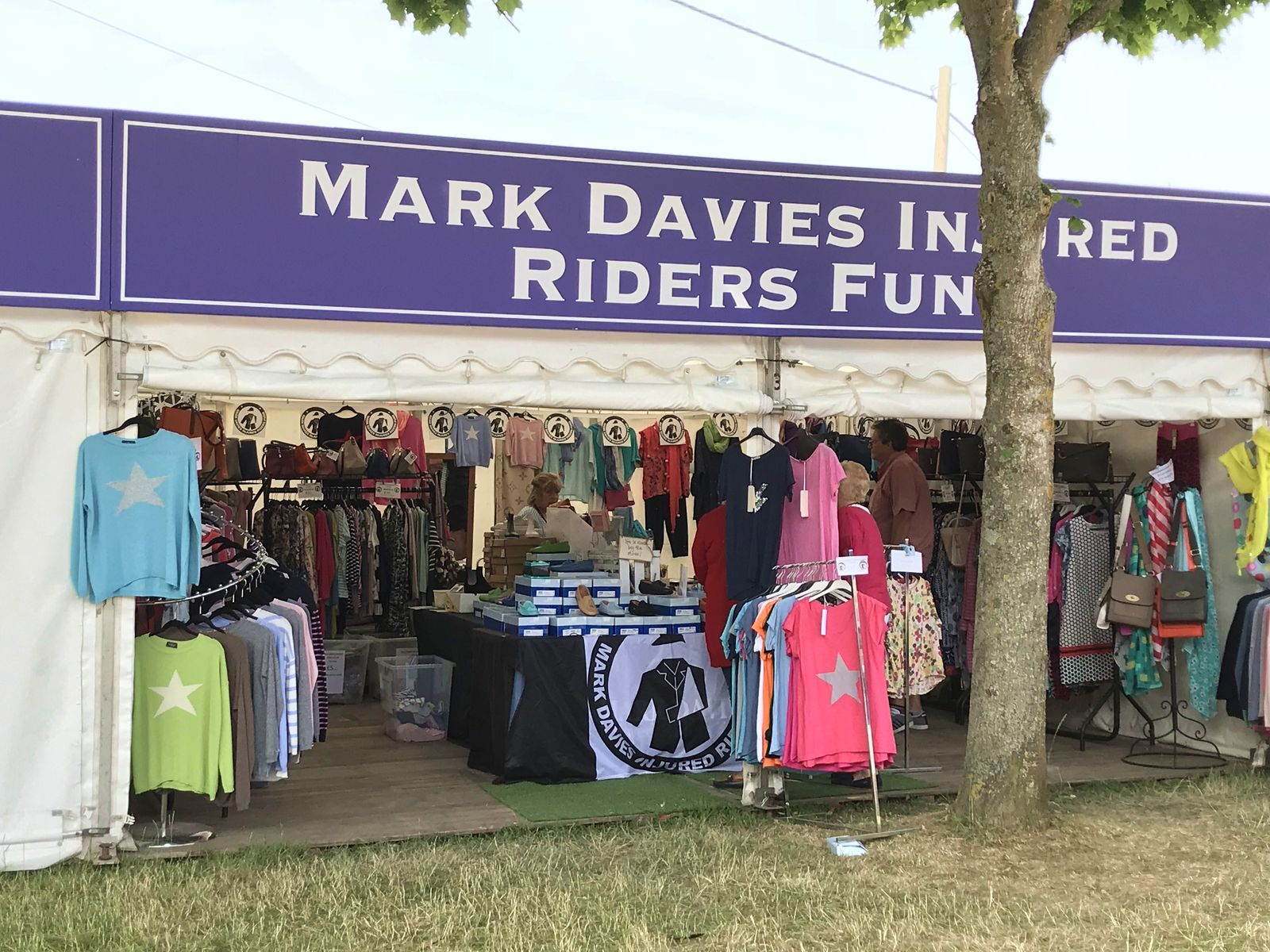 Trade Stands Burghley Horse Trials : Mark davies charity overwelmed by support at burghley